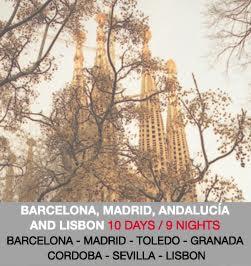 barcelona madrid andalucia lisbon